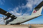"RAF Airbus A400M Atlas (ZM409) with ""Airborne 16"" tail art at RAF Brize Norton (2).jpg"
