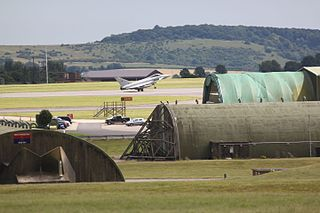 MoD Boscombe Down Military test & evaluation airfield in Wiltshire, England.