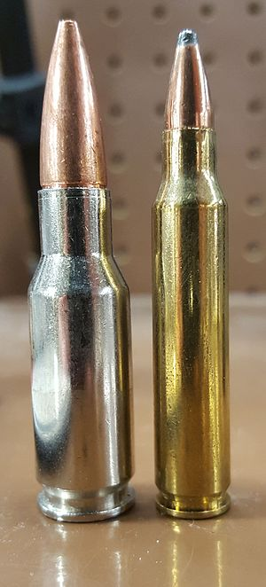 .30 Remington AR - Image: RAR+223 side