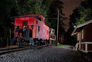 Rochester & Genesee Valley Railroad Museum - Image: RGVRRM Eire At Night