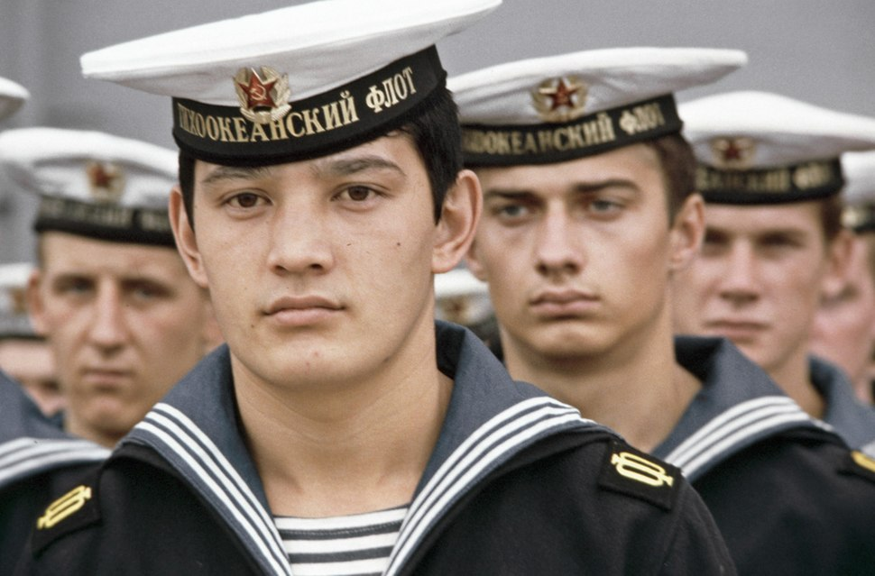 RIAN archive 25456 Sailors of the Red Banner Pacific Fleet