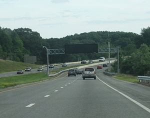 Rhode Island Route 4 - Route 4 southbound through North Kingstown