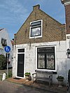 foto van Hoekpand Langepoortstraat met puntgevel, en stoep