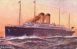 Timeline of largest passenger ships - Image: RMS Cedric