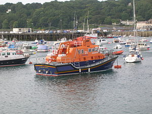 Royal National Lifeboat Institution lifeboats - Severn-class RNLI Spirit of Guernsey at St Peter Port
