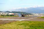 ROCAF C-130H 1307 Landing down Songshan Air Force Base 20151222a.jpg