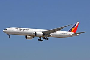Air transportation in the Philippines - A Boeing 777 of Philippine Airlines