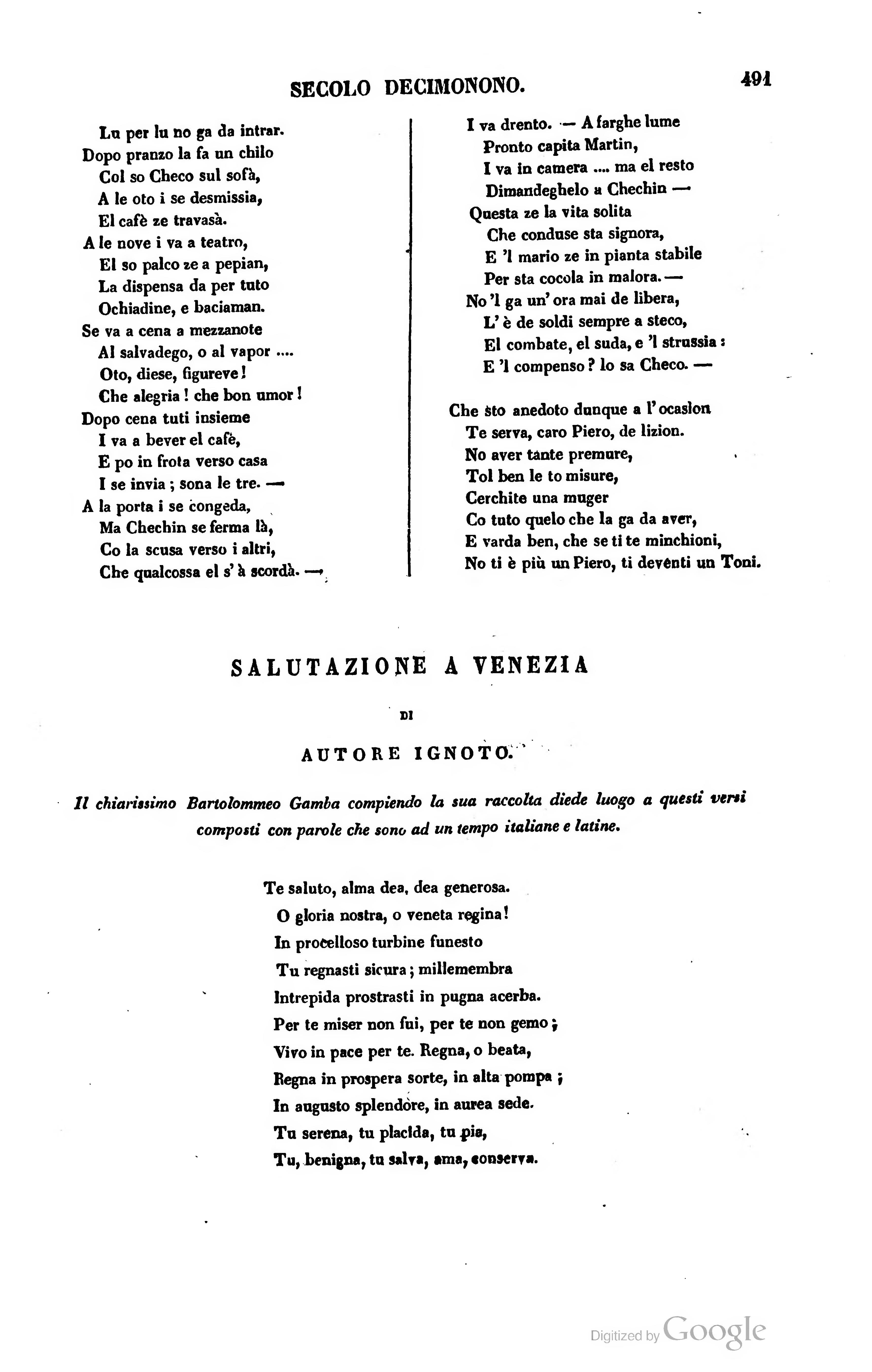 Bien-aimé Pagina:Raccolta di poesie in dialetto veneziano 1845.djvu/499  HX53