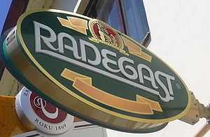 Radegast (beer) - A Radegast sign