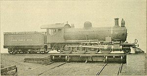 South African type WG tender - Type WG tender on CGR 8th Class of 1901