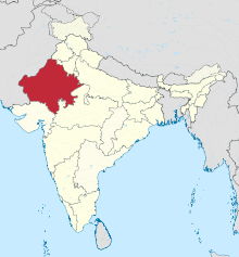 Rajasthan in India (disputed hatched).svg