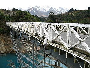 Wendel Bollman - Old Rakaia Gorge Bridge in New Zealand