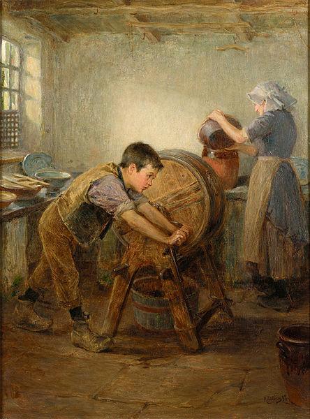444px-Ralph_Hedley_The_Butter_Churn_1897.jpg (444×600)