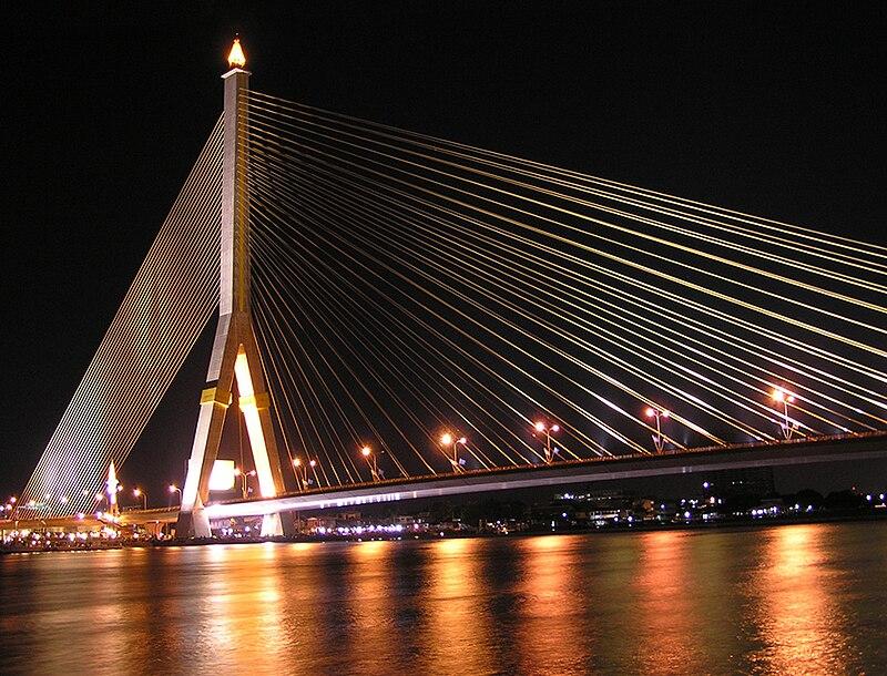 File:Rama VIII Bridge at night.jpg