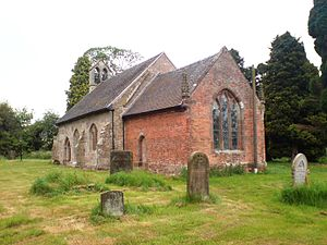 Ranton, Staffordshire - All Saints church, Ranton, view from southeast, May 2008