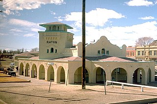 Raton station train station in Raton, New Mexico