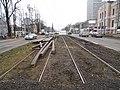 Reconstruction of tram track on Szarych Szeregów Square in Szczecin, 2020 (3).jpg