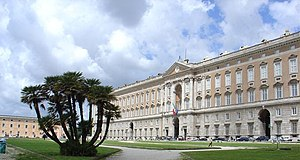 Photograph of the Caserta Palace facade taken ...