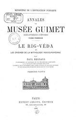Paul Regnaud: Le Rig-Véda et les origines de la mythologie indo-européenne