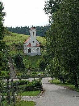 Chapel in Reichersdorf, municipality Gammelsdorf, Upper Bavaria.