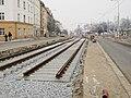 Reko TT Dlabačov - Královka, zastávka Malovanka a kolejiště.jpg