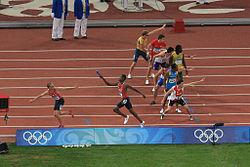 En 4x400 meter-+løb for herrer under OL i Peking 2008