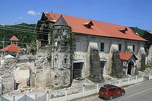 Loboc, Bohol - Image: Remains of Loboc church post 2013 earthquake
