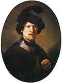 Rembrandt - Man Wearing a Plumed Beret and Gorget.jpg
