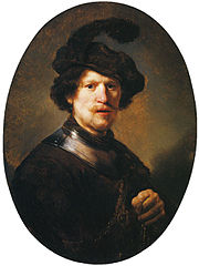 Man Wearing a Plumed Beret and Gorget