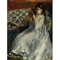 Renoir - JEUNE FEMME EN BLANC LISANT, 1873.jpg