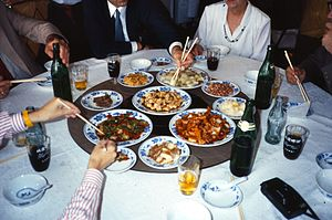 Lazy Susan - A Lazy Susan in a Chinese restaurant
