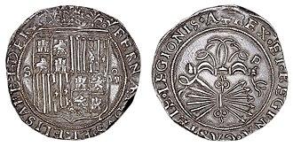 Spanish dollar - Image: Reyes Católicos 8 reales 28829