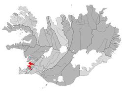 Location of Reykjavík