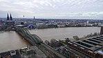 Rheinhochwasser 2018 in Köln KölnTriangel 04.jpg