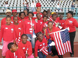 Ricardo Clark - Clark with fans prior to the 2010 FIFA World Cup