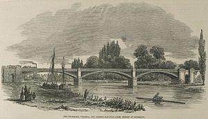 LSWR suburban lines - Richmond Railway Bridge