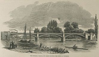 Richmond Railway Bridge - Image: Richmond rly bridge ill london news