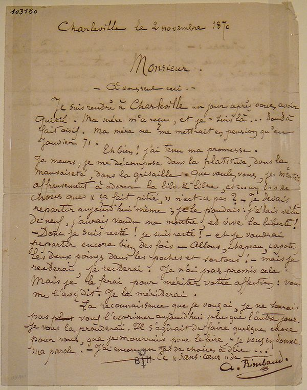 Reproduction de la lettre