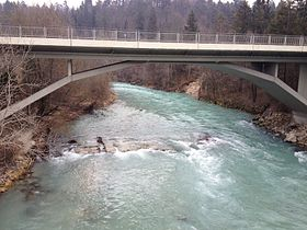 River and road bridge, Slovenia.jpg