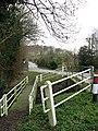 Road and footbridge across the River Tud - geograph.org.uk - 667251.jpg