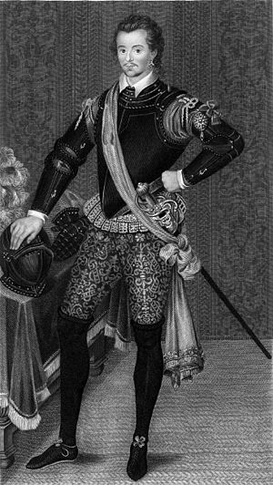 Robert Dudley (explorer) - Robert Dudley, 1590s. Engraving after a portrait by Nicholas Hilliard