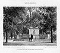 Robert Franz Wilhelm Geissler (1819-1893), Quedlinburg Kloppstocks Denkmal im Brühl, Lithographie um 1850, D2179.jpg