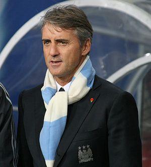 Roberto Mancini Lech Poznań vs Manchester City...