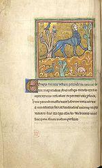Rochesterski bestijarij, prikaz Mantikore, 13. stoljeće