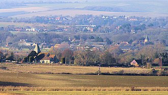 Rodmell - Image: Rodmell, Iford and Kingston from Itford Hill, Southease geograph.org.uk 1118880