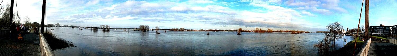 Overstroming van de Maas bij Roermond in 2011