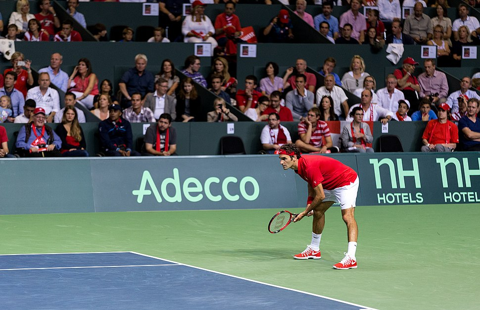 Roger Federer Davis Cup vs. Fabio Fognini (Italy)
