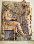 Roman funerary relief of a couple 330-320 BC (Sk 739).jpg