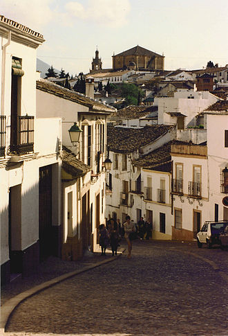 Ronda - View in Ronda looking toward the Church of Santa Maria la Mayor