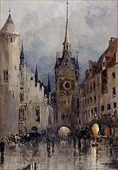 Street Scene in Munich
